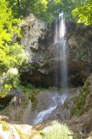 Монахов водопад Водопад из Монаховой пещеры. Гуамское ущелье