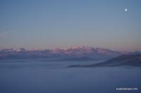 Вид с горы Кизинчи Скала Кизинчи Большой Тхач Малый Тхач Асбестная Ачешбок Чёртовы Ворота