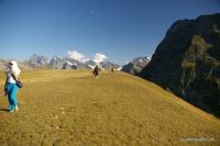 На хребте Чагет-Чат Вид на горы в долине река Маруха, Аксаут