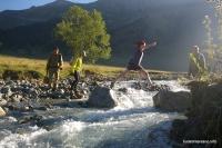 Переправа через реку София река София у слияния с Ак-Айры