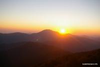 Гора Аутль на закате Вид от озера Хуко