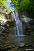Водопады Жане Водопад в верховьях реки Жане