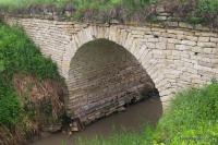 Мост по пути к пещере Нозьма станица Передовая Большой Закатай старинный мост