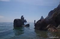 Острова в море Мыс Фиолент