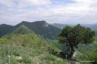 Вид на Папай Главный с одной из вершин хребта севернее главной высоты
