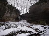 Каньон Трубный Каньон в снегу