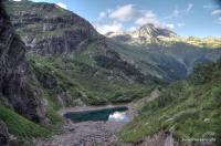 Турье озеро в Домбае озеро Турье