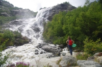 Алибекский водопад Водопад на Алибеке