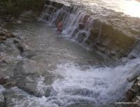 Водопад в Баракаевской Порог в станице Баракаевская