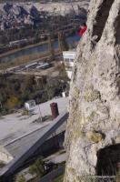 Каламита Вид с балкона необорудованного пещерного города в Инкермане