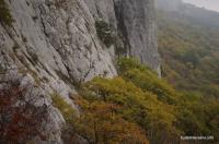 Вид с середины Чертовой лестницы Кастропольская стена перевал Чёртова Лестница