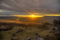 Вид на Скалистый хребет Баранаха вид на Бандитское урочище балка Мокрая