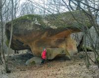 Каменный гриб в Курджиново гриб из песчаника в Нижнем Бескесе