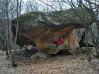 Каменный гриб в Нижнем Бескесе выветривание песчаника