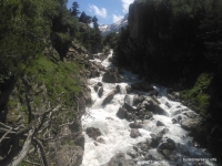 водопад Чёртова Мельница на Марухе река Маруха, урочище Чёртова Мельница