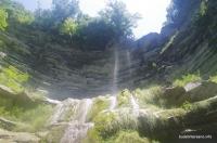 Верхняя часть водопада Прохаскин водопад Прохаскина балка Тешебс