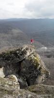 На скале Скала Шапка скалы из песчаника
