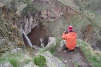 Водопад Кызыл-Су Водопад в верховьях Малки Средний водопад на Джилысу