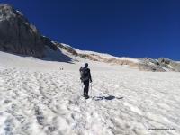 Путь по Фиштинскому леднику Восхождение на Фишт, путь по леднику