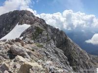 Гребень к вершине Фишт Гора Фишт, гребневая часть