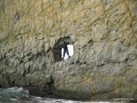 Скала Парус дыра в скале Парус