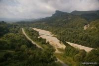 Вид со скалы Ярыческая скала Кизинчи река Ходзь дорога на поселки Узловой, Баговская, Кизинка и Бугунжа
