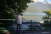 Вид на озеро Рица с моста через Юпшару Рица Юпшара Юшпара