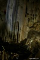 Огромные сталактиты в Новоафонской пещере Сталактиты Ново-Афонская пещера