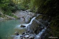Верхние водопады на реке Дикарька Змейковские водопады