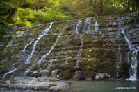 Верхний водопад на реке Дикарька Змейковские водопады