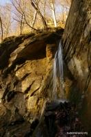 струя водопада Кутанка Адыгея водопад
