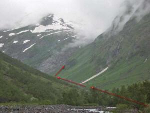 Путь движения к леднику Кизгыч-Баш