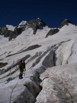 Преодоление трещин на перегибе лед. Кизгыч-Баш