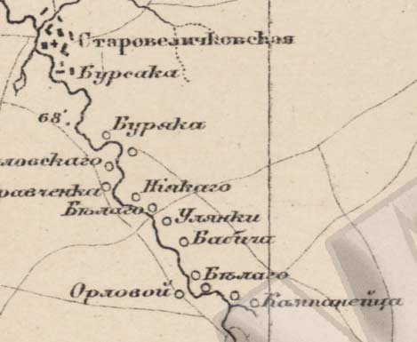 Карта Кубанского Округа Северо-Кавказского Края 1930 Года
